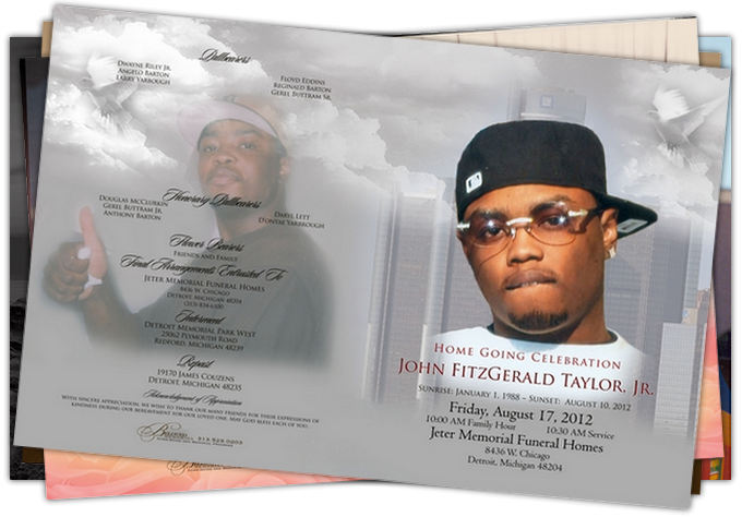 Detroit Obituary Printing sample