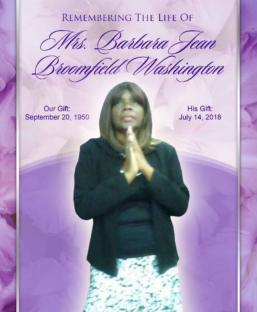 Barbara Jean Broomfield  Washington 1950-2018